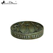"RSM-221 Montana West Bronze ""OILFIELD TRASH"" Soap Dish"