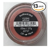 (PACK OF 13) Bare Minerals / Bare Escentuals RICHES (42757) Blush Makeup. Gold Infused! WARM EARTH PINK. Ideal for ALL Skin Types.