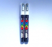 Uni Posca Paint Marker - PC-3M - White / Total 6 Pens Set