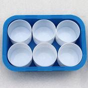 Bluemoona 6 Storage - Watercolour Colour Case Empty Palettes for Kids Child Art Craft