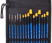 15 Artist Nylon Brushes for Watercolour, Acrylic, or Oil Painting