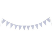 Mixed Media White Ready-to-Decorate Banner with 12 Pennants 20cm x 30cm each
