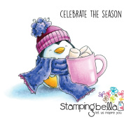 Stamping Bella Cling Stamp 17cm x 11cm -Penguin And The Marshmallow