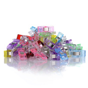 GWHOLE Pack of 60 Sewing Clips for Quilting Crafting, Multi-Colour
