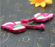 Lyracces Sewing Fastener Flower Lotus water lily Fabric satin cotton stuff Frogging Button 1pair