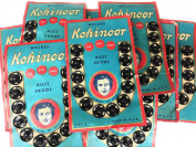 Vintage 144 Strong Snap Fasteners Black #3 Walder Kohinoor 1st Patent Snap