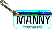 Personalised Colorado Colour 2000 Zipper Pull State Licence Plate Replica