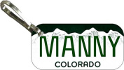 Personalised Colorado 2000 Zipper Pull State Licence Plate Replica