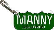 Personalised Colorado 1993 Zipper Pull State Licence Plate Replica