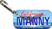 Personalised California Protect Zipper Pull State Licence Plate Replica