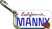 Personalised California Trees Zipper Pull State Licence Plate Replica