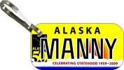 Personalised Alaska 50 Zipper Pull State Licence Plate Replica