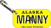 Personalised Alaska 2013 Zipper Pull State Licence Plate Replica