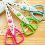 3pcs lace Scissors Metal and Plastic DIY Scrapbook Paper Photo Tools Diary Decoration Safety Scissors 3 Styles Selection by Fascola