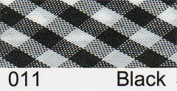Berisfords R77915/011- Black Gingham Bias Binding 15mm x 20m