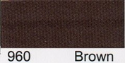 Essential Trimmings R78015/960- Brown Satin Bias Binding | 15mm x 20m