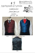 Men's Romantic & Victorian Era Double-breasted Shawl Collar Vest 1830-1860 Sewing Pattern #5
