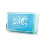 Remove Facial Makeup Cotton Pad- Super Thin Soft Make up 100% Pure Square Cotton Puff with Strong water absorption 1000 PIECES BLUE