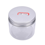 1 Pcs Aluminium Tin Jars,Cosmetic Sample Tins Empty Container, Round Pot Screw Cap Lid, Small Ounce for Lip Balm,Make Up,Eye Shadow,Powder,Gems,Beads,Jewellery,150ml by Team-Management