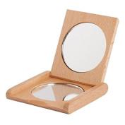 Bürstenhaus Redecker Oiled Beechwood Pocket Mirror, 7cm by 7cm