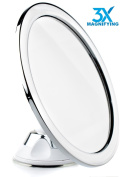 Hampstead Best Fogless Shower Mirror | 3X Magnification | Fog Free Shaving Bathroom Mirror with a Beautiful Chrome Finish a 360° Swivel Head | Bonus Razor Holder included