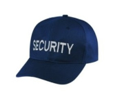 SECURITY - Cap/ Hat Patch - Silver Grey/ Dark Navy Blue, Adjustable - Police, Sheriff, CHP, Security, Cap Patch, Gaol, Prison, Corrections - Sold by UNIFORM WORLD
