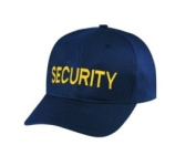 SECURITY - Cap/ Hat Patch - Medium Gold/ Dark Navy Blue, Adjustable - Police, Sheriff, CHP, Security, Cap Patch, Gaol, Prison, Corrections - Sold by UNIFORM WORLD