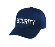 SECURITY - Cap/ Hat Patch - White/ Dark Navy Blue, Adjustable - Police, Sheriff, CHP, Security, Cap Patch, Gaol, Prison, Corrections - Sold by UNIFORM WORLD