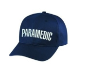 PARAMEDIC - Cap/ Hat Patch - White/ Dark Navy Blue, Adjustable - Paramedic, EMT, EMS Nurse, Ambulance, First Responder - Sold by UNIFORM WORLD
