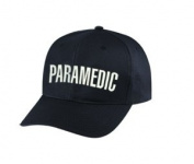 PARAMEDIC - Cap/ Hat Patch - White/ Black, Adjustable - Paramedic, EMT, EMS Nurse, Ambulance, First Responder - Sold by UNIFORM WORLD