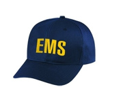 EMS - Emergency Medical Service - Cap/ Hat Patch - Gold/ Dark Navy Blue, Adjustable - Paramedic, EMT, EMS Nurse, Ambulance, First Responder - Sold by UNIFORM WORLD