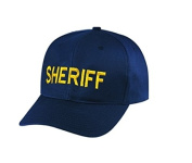 SHERIFF Cap/ Hat Patch - Medium Gold/ Dark Navy, Adjustable - Police Patch, Gaol, Prison, Corrections - Sold by UNIFORM WORLD