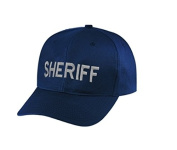 SHERIFF Cap/ Hat Patch - Silver /Dark Navy, Adjustable - Police Patch, Gaol, Prison, Corrections - Sold by UNIFORM WORLD