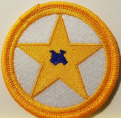[Single Count] Custom and Unique (5.1cm Inches) TEXAS STATE STAR Symbol Embroidered Iron-On Patch TEXAN Emblem SOUTH Version V Badge Iron-On Embroidered Applique Patch
