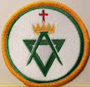 [Single Count] Custom and Unique (7.9cm Inches) Freemason Symbol Embroidered Iron-On Patch Masonry Emblem Mason Version III Badge Iron-On Embroidered Applique Patch