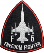 F-5 Freedom Fighter Tiger II Embroidered Applique Sewing Iron on Patch - Black