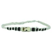 Wooden beads black bracelet white skull Boneperle waxed thread unisex handgef.¤delt