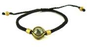 Designer Bracelets Brass Ball Brass bracelet brown waxed cotton Unisex