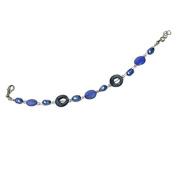 Perlmuttarmband blue grey pearl rings slices Ladies lobster clasp nickel free 18cm 20cm