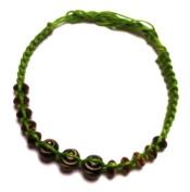Bracelets green brown Friendship bracelet bracelet wooden beads cotton Unisex Jewellery waxed