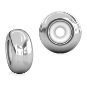 BELLA FASCINI Set of 2 Smooth Silver Ultra Silicone STOPPERS Fits European Charm Bracelets and Bangles