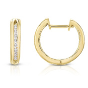 Noray Designs 14K White Or Yellow Gold Diamond (0.24 Ct, I1-I2 Clarity, G-H Colour) Hoop Earrings