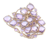 Amethyst 90cm Necklace with 14K Rose Gold Lobster Lock