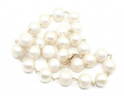 Freshwater White Pearl 46cm Necklace 14k Yellow Gold Heavy Lobster Lock