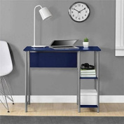 Mainstays Basic Student Desk Sturdy metal frame accented by shelving .Model