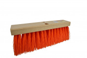Janico 4016 Bristles Street Broom Head, 41cm , Orange Poly Bristles, Brown