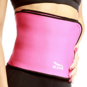 Mava Sports Colourful Waist Trimmer – Weight Loss Wrap and Exercise Enhancer for Tight Abs – Provides Back Lumbar Support While Burning Belly Fat – Fully Adjustable – Gym Wear with Sauna Effect