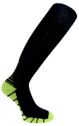 FDX Plus Size/Big & Tall Black with Green Cushioned Compression Socks