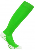 FDX Plus Size/Big & Tall Green with White Cushioned Compression Socks