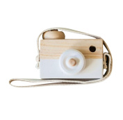 White Wooden Camera Toys Rukiwa Baby Kids Cute Accessory Safe And Natural Toys